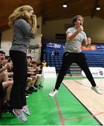 21 January 2019; St Pats Navan head coach Darren Bellew, right, and assistant coach Cora Marie Kelliher celebrate a late score during the Subway All-Ireland Schools Cup U16 B Boys Final match between St Pats Navan and Colaiste Muire Crosshaven at the National Basketball Arena in Tallaght, Dublin. Photo by David Fitzgerald/Sportsfile