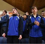 21 January 2019; Colaiste Muire Crosshaven supporters react during the Subway All-Ireland Schools Cup U16 B Boys Final match between St Pats Navan and Colaiste Muire Crosshaven at the National Basketball Arena in Tallaght, Dublin. Photo by David Fitzgerald/Sportsfile