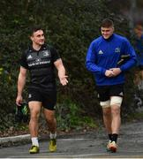 21 January 2019; Ronan Kelleher, left, and Oisín Dowling arrive for Leinster Rugby squad training at Rosemount in UCD, Dublin. Photo by Ramsey Cardy/Sportsfile