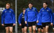 21 January 2019; Gavin Mullin, left, Jimmy O'Brien, centre, and Conor O'Brien arrive for Leinster Rugby squad training at Rosemount in UCD, Dublin. Photo by Ramsey Cardy/Sportsfile
