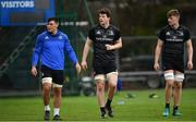 21 January 2019; David Aspil, left, Jack Dunne, centre, and Cian Prendergast during Leinster Rugby squad training at Rosemount in UCD, Dublin. Photo by Ramsey Cardy/Sportsfile