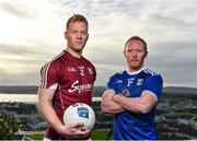 22 January 2019; Declan Kyne of Galway, left, and Cian Mackey of Cavan pose for a portrait during an Allianz Football League Media Event at the Loughrea Hotel in Loughrea, Co. Galway. Photo by Seb Daly/Sportsfile