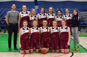 22 January 2019; The Laurel Hill team prior to the Subway All-Ireland Schools Cup U19 C Girls Final match between St Louis Carrickmacross and Laurel Hill Limerick at the National Basketball Arena in Tallaght, Dublin. Photo by Brendan Moran/Sportsfile