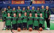 22 January 2019; The St Louis team prior to the Subway All-Ireland Schools Cup U19 C Girls Final match between St Louis Carrickmacross and Laurel Hill Limerick at the National Basketball Arena in Tallaght, Dublin. Photo by Brendan Moran/Sportsfile