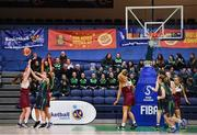 22 January 2019; A general view of the game during the Subway All-Ireland Schools Cup U19 C Girls Final match between St Louis Carrickmacross and Laurel Hill Limerick at the National Basketball Arena in Tallaght, Dublin. Photo by Brendan Moran/Sportsfile