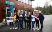 22 January 2019; In attendance, from left, are Eimear Scally of UL and Cork, Muireann Atkinson of DCU and Monaghan, Lorraine Heskin, MD of Gourmet Foot Parlour, GFP Ambassador and former Kerry footballer Tomás Ó Sé, Con Moyihan, Ladies HEC, LGFA CEO Helen O'Rourke, Niamh McEvoy of DIT and Dublin, Siobhán Divilly of NUI Galway and Galway and Donal Barry, Chairperson of HEC, at the launch of the 2019 Gourmet Food Parlour HEC Ladies Football Championships at Gourmet Food Parlour's Northwood, Santry outlet. Gourmet Food Parlour are the official sponsors of the HEC Ladies Football third-level Championships. Photo by David Fitzgerald/Sportsfile