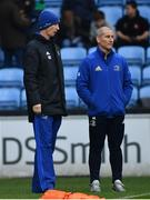 20 January 2019; Leinster head coach Leo Cullen, left, and senior coach Stuart Lancaster ahead of the Heineken Champions Cup Pool 1 Round 6 match between Wasps and Leinster at the Ricoh Arena in Coventry, England. Photo by Ramsey Cardy/Sportsfile