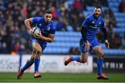 20 January 2019; Adam Byrne, left, and Robbie Henshaw of Leinster during the Heineken Champions Cup Pool 1 Round 6 match between Wasps and Leinster at the Ricoh Arena in Coventry, England. Photo by Ramsey Cardy/Sportsfile