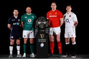 23 January 2019; Captains, from left, John Barclay of Scotland, Rory Best of Ireland, Alun Wyn Jones of Wales, and Owen Farrell of England during the 2019 Guinness Six Nations Rugby Championship Launch at the Hurlingham Club in London, England. Photo by Ian Walton/Sportsfile