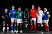 23 January 2019; Captains, from left, John Barclay of Scotland, Sergio Paresse of Italy, Rory Best of Ireland, Alun Wyn Jones of Wales, Owen Farrell of England, and Guilhem Guirado of France during the 2019 Guinness Six Nations Rugby Championship Launch at the Hurlingham Club in London, England. Photo by Ian Walton/Sportsfile