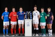23 January 2019; Captains from left, Manuela Furlan, Italy, Carys Phillips, Wales, Gaëlle Hermet, France, Sarah Hunter, England, Ciara Griffin, Ireland, and Lisa Thomson of Scotland during the 2019 Guinness Six Nations Rugby Championship Launch at the Hurlingham Club in London, England. Photo by Ian Walton/Sportsfile