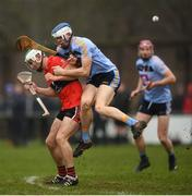 23 January 2019; Huw Lawlor of UCD in action against Shane Kingston of UCC during the Electric Ireland Fitzgibbon Cup Group A Round 2 match between University College Cork and University College Dublin at Mardyke in Cork. Photo by Stephen McCarthy/Sportsfile
