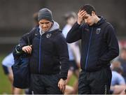 23 January 2019; UCD manager Conor O'Shea, right, and UCD Gaelic Games Executive Ger Brennan following the Electric Ireland Fitzgibbon Cup Group A Round 2 match between University College Cork and University College Dublin at Mardyke in Cork. Photo by Stephen McCarthy/Sportsfile