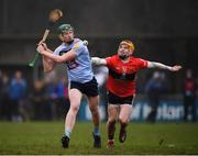 23 January 2019; Stephen Quirke of UCD in action against Niall O'Leary of UCC during the Electric Ireland Fitzgibbon Cup Group A Round 2 match between University College Cork and University College Dublin at Mardyke in Cork. Photo by Stephen McCarthy/Sportsfile
