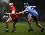 23 January 2019; Mark Kehoe of UCC in action against Ian O'Shea of UCD during the Electric Ireland Fitzgibbon Cup Group A Round 2 match between University College Cork and University College Dublin at Mardyke in Cork. Photo by Stephen McCarthy/Sportsfile
