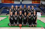 23 January 2019; The Pobailscoil Inbhear Sceine Kenmare squad before the Subway All-Ireland Schools Cup U16 A Girls Final match between Coláiste Einde and Pobailscoil Inbhear Sceine Kenmare at the National Basketball Arena in Tallaght, Dublin. Photo by Piaras Ó Mídheach/Sportsfile