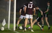 23 January 2019; Oisín Lappin of Queens University Belfast scores an own goal during the Electric Ireland Sigerson Cup Round 2 match between Queens University Belfast and NUI Galway at The Dub in Belfast, Co Antrim. Photo by David Fitzgerald/Sportsfile