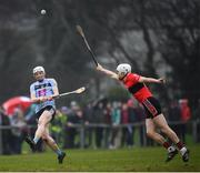 23 January 2019; Mick Cody of UCD in action against David Griffin of UCC during the Electric Ireland Fitzgibbon Cup Group A Round 2 match between University College Cork and University College Dublin at Mardyke in Cork. Photo by Stephen McCarthy/Sportsfile
