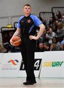 23 January 2019; Referee Mark Gilleran during the Subway All-Ireland Schools Cup U19 A Girls Final match between Holy Faith Clontarf and St Vincent's SS, Cork, at the National Basketball Arena in Tallaght, Dublin. Photo by Piaras Ó Mídheach/Sportsfile