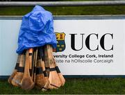 23 January 2019; A general view of UCC hurls during the Electric Ireland Fitzgibbon Cup Group A Round 2 match between University College Cork and University College Dublin at Mardyke in Cork. Photo by Stephen McCarthy/Sportsfile