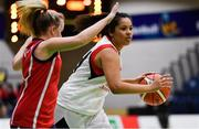 23 January 2019; Elizabeth Black of Holy Faith Clontarf in action against Orla Murphy of St Vincent's SS, Cork, during the Subway All-Ireland Schools Cup U19 A Girls Final match between Holy Faith Clontarf and St Vincent's SS, Cork, at the National Basketball Arena in Tallaght, Dublin. Photo by Piaras Ó Mídheach/Sportsfile