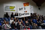 23 January 2019; Pobailscoil Inbhear Sceine Kenmare supporters during the Subway All-Ireland Schools Cup U16 A Girls Final match between Coláiste Einde and Pobailscoil Inbhear Sceine Kenmare at the National Basketball Arena in Tallaght, Dublin. Photo by Piaras Ó Mídheach/Sportsfile