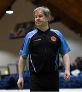 23 January 2019; Referee Joe Robinson during the Subway All-Ireland Schools Cup U16 A Girls Final match between Coláiste Einde and Pobailscoil Inbhear Sceine Kenmare at the National Basketball Arena in Tallaght, Dublin. Photo by Piaras Ó Mídheach/Sportsfile