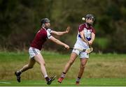 24 January 2019; Barry Murphy of University of Limerick in action against Andrew Greaney of N.U.I. Galway during the Electric Ireland Fitzgibbon Cup Group A Round 2 match between  N.U.I. Galway and University of Limerick at the National University of Ireland in Galway. Photo by Harry Murphy/Sportsfile