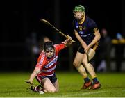 24 January 2019; Kieran Galvin of CIT in action against Fergal Whitely of DCU Dóchas Éireann during the Electric Ireland Fitzgibbon Cup Group C Round 2 match between DCU Dóchas Éireann and Cork Institute of Technology at DCU Sportsgrounds in Dublin. Photo by Stephen McCarthy/Sportsfile
