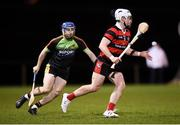 24 January 2019; Jack O'Neill of Trinity and Colin Dunford of IT Carlow during the Electric Ireland Fitzgibbon Cup Group B Round 2 match between Trinity and IT Carlow at the Trinity College Sports Grounds in Santry, Dublin. Photo by Stephen McCarthy/Sportsfile