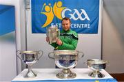 25 January 2019; Limerick hurler Paul Browne with the Liam MacCarthy Cup at the GAA Five Star Centres stand at the Citywest Hotel Convention Centre in Saggart, Co. Dublin. Photo by Piaras Ó Mídheach/Sportsfile
