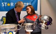 25 January 2019; David Ruddy, President IPPN President with Cork camogie player Aoife Murray at the GAA Five Star Centres stand at the Citywest Hotel Convention Centre in Saggart, Co. Dublin. Photo by Piaras Ó Mídheach/Sportsfile