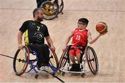 25 January 2019; Conor Coughlan of Rebel Wheelers in action against Mark Barry of Ballybrack Bulls during the Hula Hoops IWA Cup Final match between Ballybrack Bulls and Rebel Wheelers at the National Basketball Arena in Tallaght, Dublin. Photo by Brendan Moran/Sportsfile