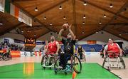25 January 2019; Mark Barry of Ballybrack Bulls in action against Paul Ryan of Rebel Wheelers during the Hula Hoops IWA Cup Final match between Ballybrack Bulls and Rebel Wheelers at the National Basketball Arena in Tallaght, Dublin. Photo by Brendan Moran/Sportsfile
