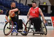 25 January 2019; Mark Barry of Ballybrack Bulls in action against Derek Hegarty of Rebel Wheelers during the Hula Hoops IWA Cup Final match between Ballybrack Bulls and Rebel Wheelers at the National Basketball Arena in Tallaght, Dublin. Photo by Brendan Moran/Sportsfile