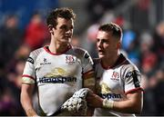 25 January 2019; A dejected Billy Burns, left, and Michael Lowry of Ulster after the Guinness PRO14 Round 14 match between Ulster and Benetton Rugby at the Kingspan Stadium in Belfast, Co. Antrim. Photo by Oliver McVeigh/Sportsfile