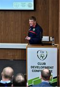 26 January 2019; John Delaney from Ballymackey AFC, during the FAI Club Development Conference at FAI National Training Centre in Abbotstown, Dublin. Photo by Matt Browne/Sportsfile