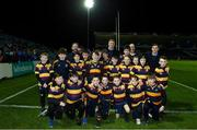 25 January 2019; The Skerries RFC team with Leinster players Dan Leavy and Luke McGrath ahead of the Guinness PRO14 Round 14 match between Leinster and Scarlets at the RDS Arena in Dublin. Photo by Ramsey Cardy/Sportsfile