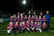 25 January 2019; The Clontarf RFC team with Leinster players Dan Leavy and Luke McGrath ahead of the Guinness PRO14 Round 14 match between Leinster and Scarlets at the RDS Arena in Dublin. Photo by Ramsey Cardy/Sportsfile