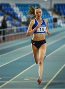 26 January 2019; Jodie McCann of Dublin City Harriers competing in the 1500m event during the AAI National Indoor League Round 2 at the AIT International Arena in Athlone, Co. Westmeath. Photo by Sam Barnes/Sportsfile