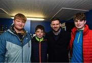 25 January 2019; Guests in The Blue Room with Leinster's Fergus McFadden of Leinster at the Guinness PRO14 Round 14 match between Leinster and Scarlets at the RDS Arena in Dublin. Photo by Harry Murphy/Sportsfile