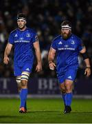 25 January 2019; Caelan Doris, left, and Michael Bent of Leinster during the Guinness PRO14 Round 14 match between Leinster and Scarlets at the RDS Arena in Dublin. Photo by Harry Murphy/Sportsfile