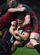 26 January 2019; Dan Goggin of Munster is tackled by Matthew Screech of Dragons during the Guinness PRO14 Round 14 match between Dragons and Munster at Rodney Parade in Newport, Wales. Photo by Ben Evans/Sportsfile