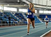 26 January 2019; Catherine McManus of Dublin City Harriers, Co. Dublin, on her way to winning the 4x200m relay event during the AAI National Indoor League Round 2 at the AIT International Arena in Athlone, Co. Westmeath. Photo by Sam Barnes/Sportsfile