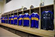 26 January 2019; Tipperary jerseys hang in the dressing room prior to the Allianz Hurling League Division 1A Round 1 match between Tipperary and Clare at Semple Stadium in Thurles, Co. Tipperary. Photo by Diarmuid Greene/Sportsfile