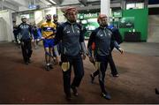 26 January 2019; Clare players including John Conlon and Paul Flanagan make their way out for their pre-match warm-up prior to the Allianz Hurling League Division 1A Round 1 match between Tipperary and Clare at Semple Stadium in Thurles, Co. Tipperary. Photo by Diarmuid Greene/Sportsfile