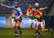 26 January 2019; John Hetherton of Dublin in action against Michael Doyle of Carlow during the Allianz Hurling League Division 1B Round 1 match between Dublin and Carlow at Parnell Park, Dublin. Photo by Harry Murphy/Sportsfile