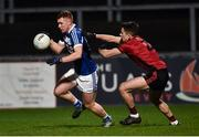 26 January 2019; Colm Murphy of Laois in action against Daniel McCarthy of Down  during the Allianz Football League Division 3 Round 1 match between Down and Laois at Páirc Esler in Newry, Co. Down. Photo by Oliver McVeigh/Sportsfile