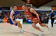 26 January 2019; Paddy Sullivan of Pyrobel Killester in action against Cathal Finn of UCD Marian during the Hula Hoops Men's Pat Duffy National Cup Final match between Pyrobel Killester and UCD Marian at the National Basketball Arena in Tallaght, Dublin. Photo by Eóin Noonan/Sportsfile