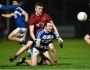 26 January 2019; Gareth Dillon of Laois  in action against Stephen Fegan of Down during the Allianz Football League Division 3 Round 1 match between Down and Laois at Páirc Esler in Newry, Co. Down. Photo by Oliver McVeigh/Sportsfile
